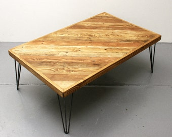 Reclaimed Wood Coffee Table - Industrial Coffee Table - Rustic Coffee Table - Wood Coffee Table - Coffee Table