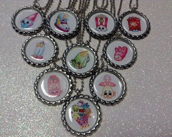 Shopkins Party favor Bottlecap necklaces 10