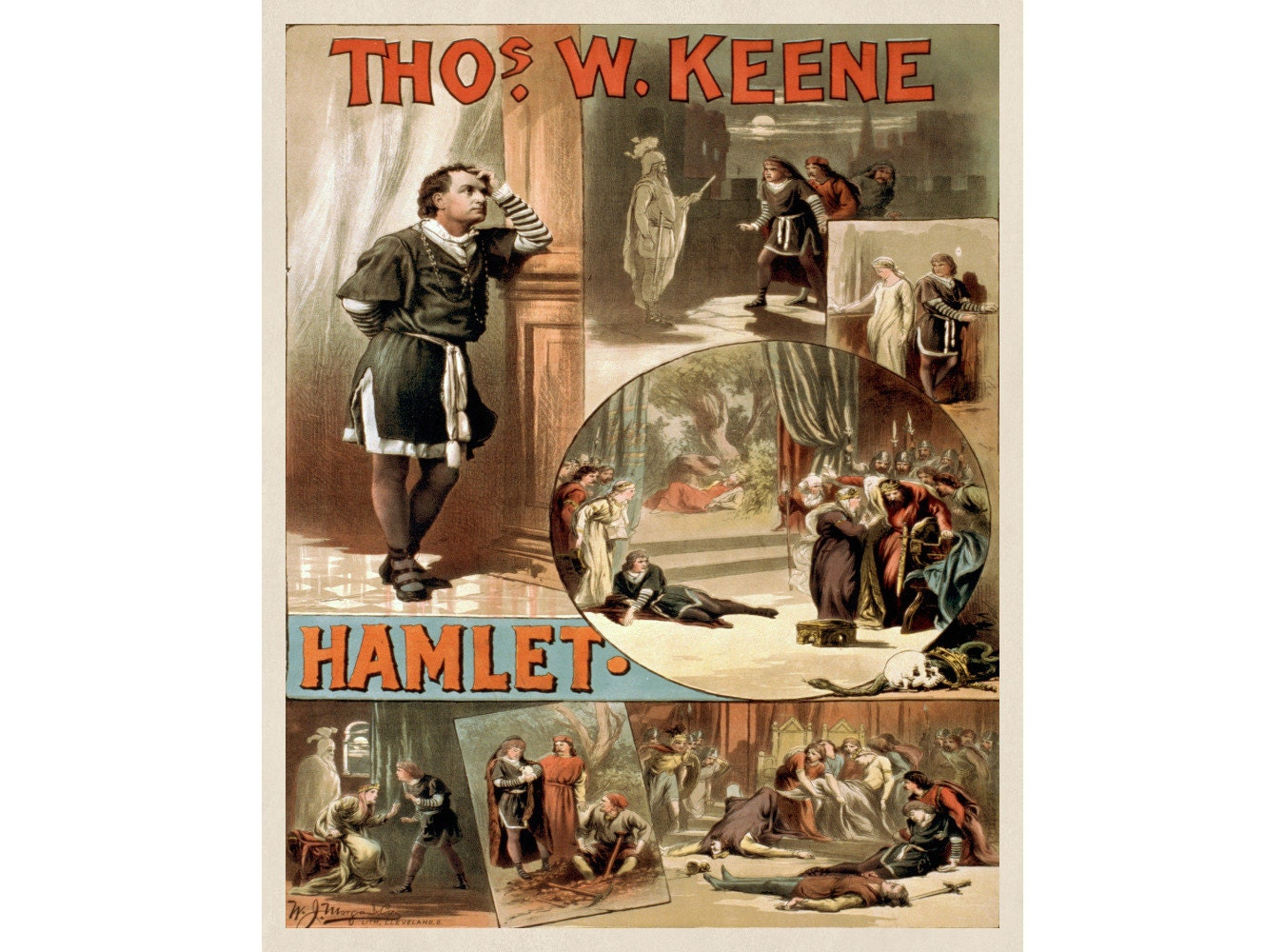 Shakespeare Hamlet Print Vintage Theatre by FabVintagePosters