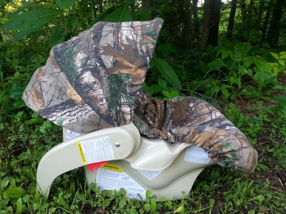 Camo Infant Car Seat Cover Realtree Xtra By Creativecarriers