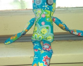 simple hippie cloth doll