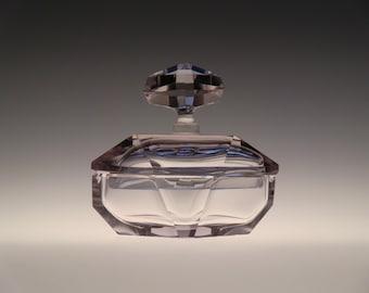 Bohemian Czech Moser Alexandrite Glass Dose