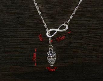 Infinity Owl Necklace