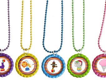 Circus Party Favors, Circus Theme Birthday Party Ideas Set Of 5