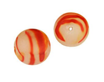 8mm Plastic Swirl Beads-Orange (144pcs)