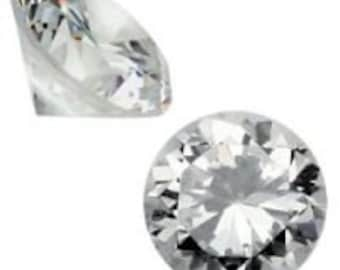 6.5mm Round Cubic Zirconia (50pcs)