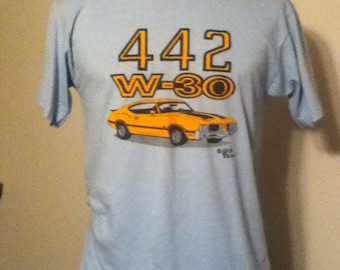 Vintage olds 442 w30 t shirt tshirt mens M/L oldsmobile s&p tees 80s