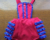 SALE FREE SHIPPING!!! Vintage Inspired 1950's Style Baby Girl Romper Sunsuit  Size 12 to 18M Swiss Dot