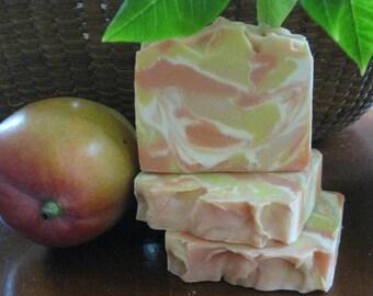 Mango Papaya Soap, All Natural Soap, Bar Soap, Handmade Soap, Homemade Soap, New Hampshire Soap, Bath Soap, Hand Soap, Handcrafted Soap