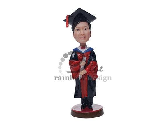 Custom Bobblehead Classic Graduating Student Graduate Custom