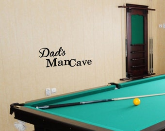 Dads Mancave Decal