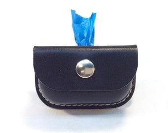 Leather Dog Bag Dispenser / Poop bag holder / Personalized, Dog accessories