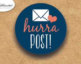 Post stickers, stickers, cute stickers, stickers, stickers for mail, envelope, label sticker envelope, hurrah post!, label
