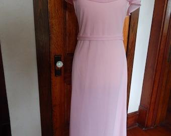 Pink 1960's formal dress