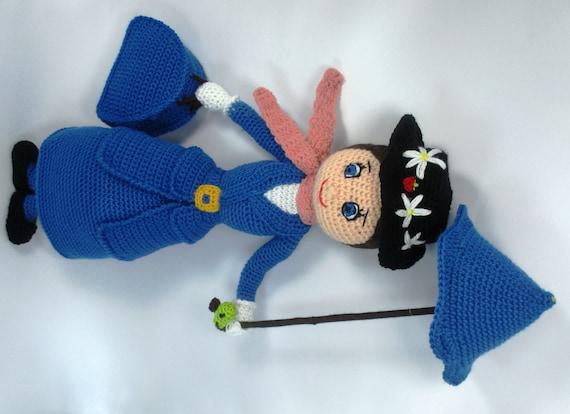 Amigurumi Klesik Doll : Mary Poppins Amigurumi Doll