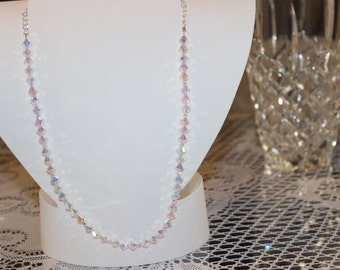 Clear Bicone Swarovski Crystal Necklace (Item #0112N)