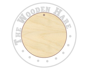 Circle Cutout Shapes with Hole - 170147 - Ornaments, Tags, Jewelry, Unfinished wood, Various sizes, Wood Craft Shapes