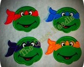 TMNT Teenage Mutant Ninja Turtle Applique Patch - Iron On / No Sew or Sew On * 3 SIZES