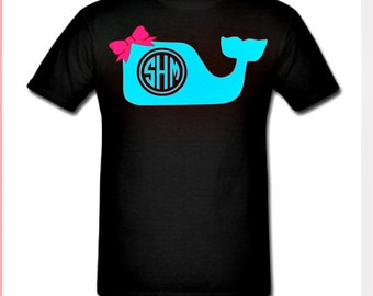 Monogram Whale Shirt
