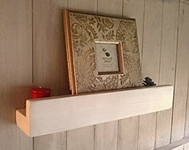 Reclaimed Pine Floating Picture Ledge Shelves - Pine, Oak, Whites, Wax - ** FREE UK DELIVERY **