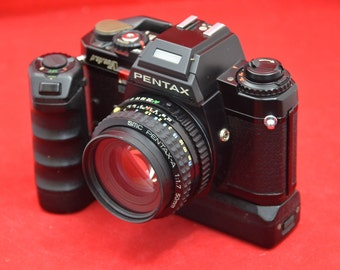 Asahi Pentax Program A with 50 mm 1.7 lens and winder