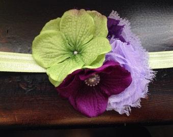 Heavenly Hydrangea Girls Headband