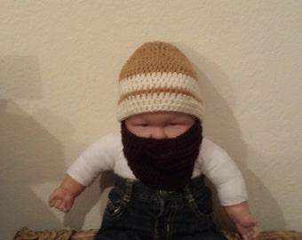 Handmade Crochet Beard hat