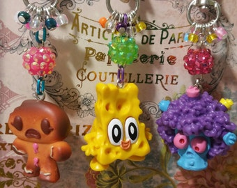 Moshi Monsters Food Factory *Reggie* *Tingle* Handbag/Purse Charm