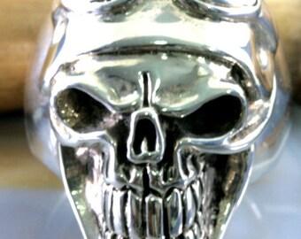 Skull, ring,925 sterling silver  -  2069