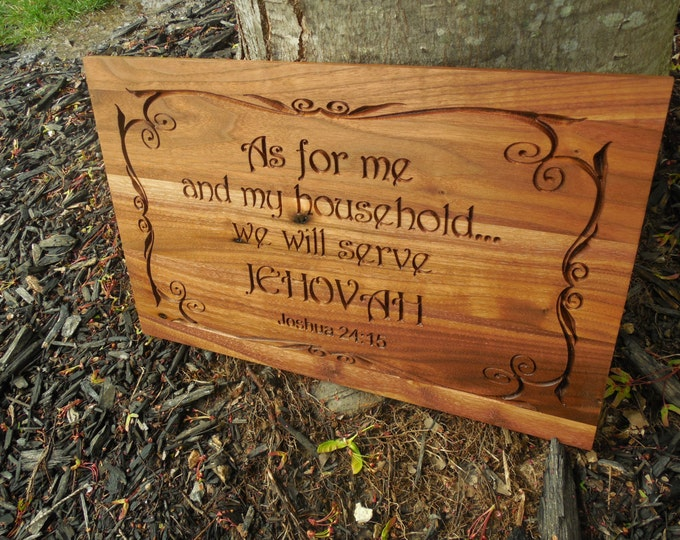 "JW ""Serve Jehovah"" Sign  jw wooden sign NWT Field Ministry Service Gift New World Translation JW Housewarming Gift Wedding Gift"