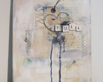 OOAK Mixed Media Canvas Full