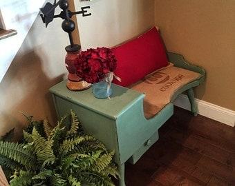 Beautiful custom painted cobblers bench