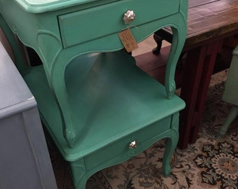Set of hand painted side tables  ***ON SALE***