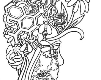 15 More Fun Fancy Funky Faces Coloring Pages Vol2 Original Art Book For