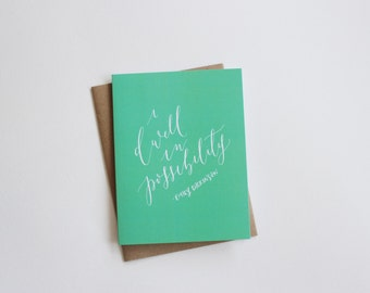 I Dwell in Possibility Card - Congrats / Graduation / Encouragement Card