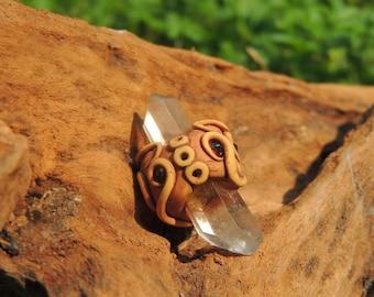 handmade pendant . smoky quartz