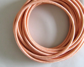 Wire by METER Copper Fabric Cloth Covered Wire Electrical Cord | Braided | 3 core | For Vintage Industrial Pendant Lamp or Lighting Rewiring
