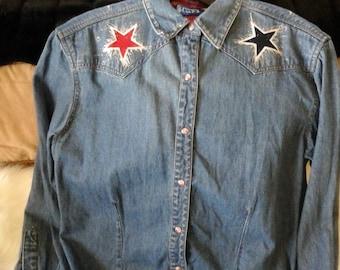 Patriotic denium shirt