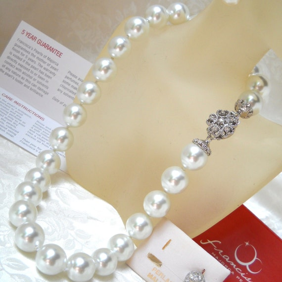 Mallorca Pearl Necklace: Single Strand Majorca Pearl Necklace 19 17mm By