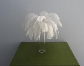 100pcs white Ostrich Feather Plume for Wedding centerpieces
