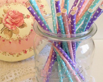 Straws paper straws 25 pieces