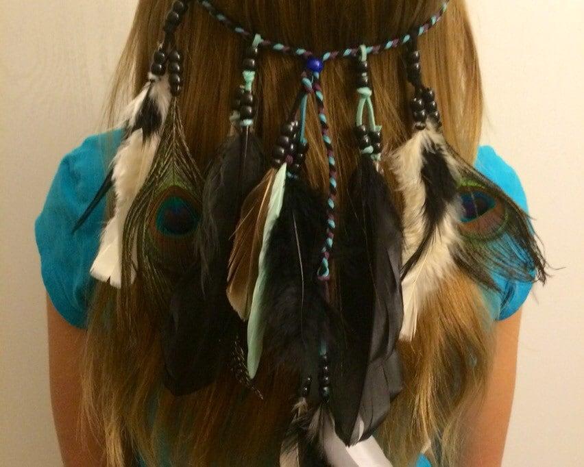 Tribal headband Native American Feather hair by ...