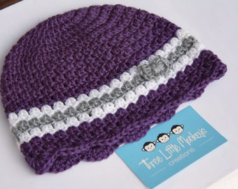 SALE 50% off Crocheted little bow beanie - 2 sizes available