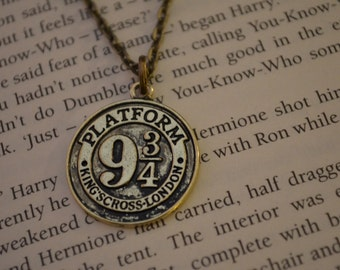 Platform 9 and 3/4 Necklace, Harry Potter Necklace for the Hogwarts Express