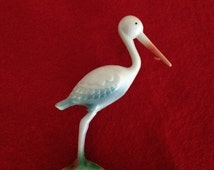 Adorable Vintage Stork Cake Topper