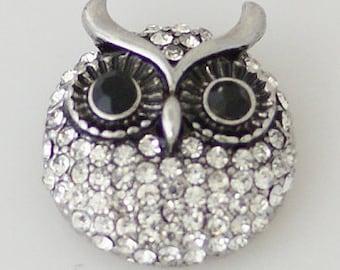 Get Snappy! Rhinestone Owl Snap Button