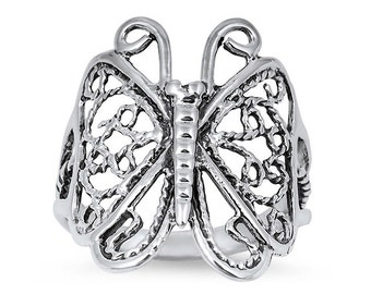 Sterling Silver Butterfly Ring (R205)