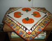 Pumpkin table topper, scarecrow trim, fall decor