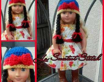 Snow White hat for American Girl doll