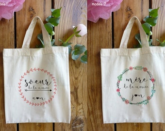 Tote bag custom wedding 'family'